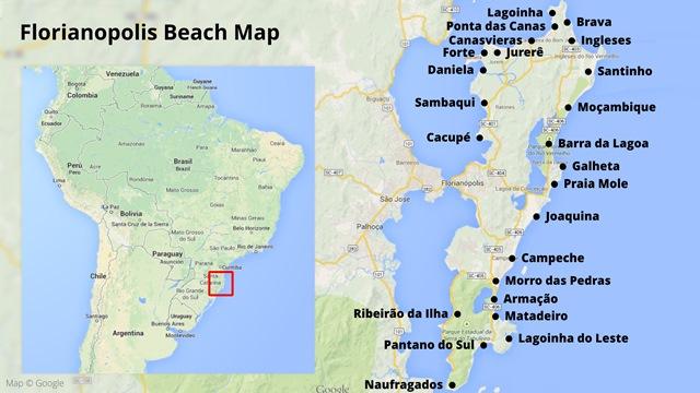 Florianopolis beach map